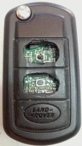 החלפת בית שלט ומקשים למפתח לרכב לנד רובר LAND ROVER