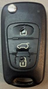 שיפוץ לוח מקשים במפתח לרכב KIA